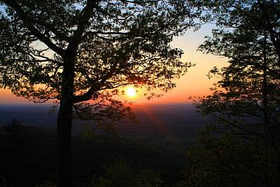 Poster featuring the photograph Chilhowee Sunset by Kathryn Meyer