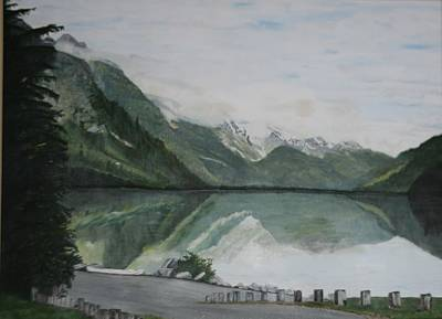 Poster featuring the painting Chilkoot Lake Alaska by Betty-Anne McDonald
