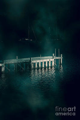 Chilling Wood Mooring Poster by Jorgo Photography - Wall Art Gallery