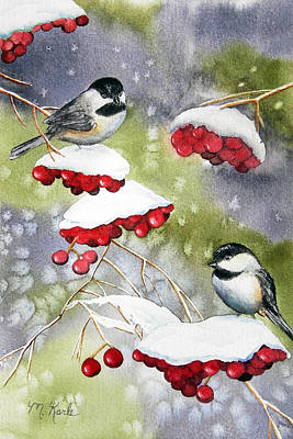 Chilly Chickadees Poster
