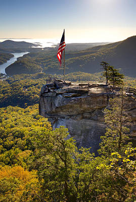 Chimney Rock State Park North Carolina Poster by Dustin K Ryan