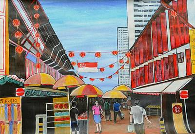 China Town Singaporesg50 Poster