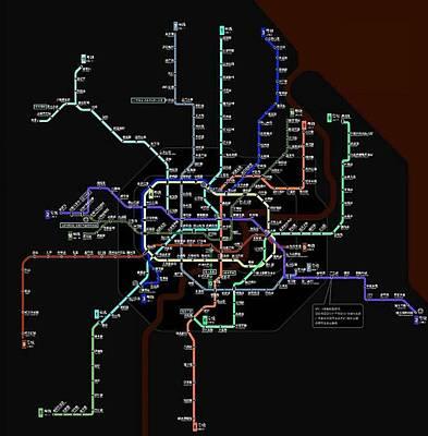 China,shanghai Metro Map Poster