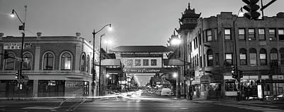 Chinatown Chicago Bw Poster
