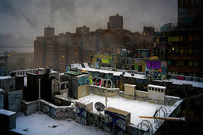 Poster featuring the photograph Chinatown Rooftops In Winter by Chris Lord