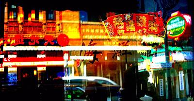 Poster featuring the photograph Chinatown Window Reflections 2 by Marianne Dow