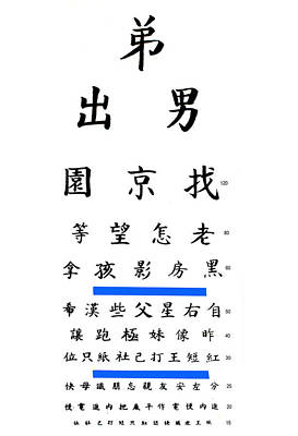 Chinese Eye Chart Poster