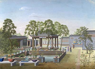 Chinese Garden, 1800 Poster