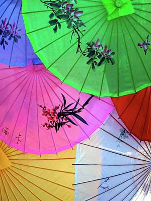 Chinese Parasols Poster