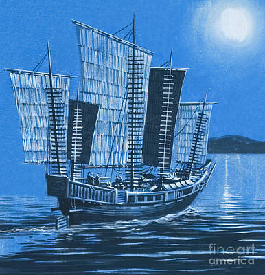Chinese Ship Poster
