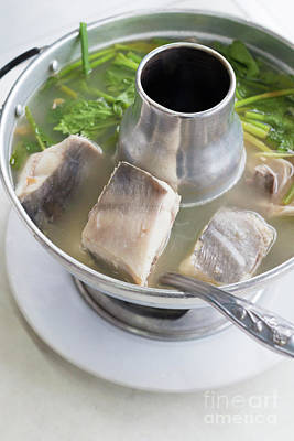 Poster featuring the photograph Chinese Silver Pomfret Soup by Atiketta Sangasaeng