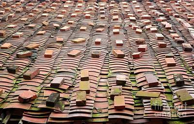 Chinese Traditional Roof Tiles Poster by Yali Shi