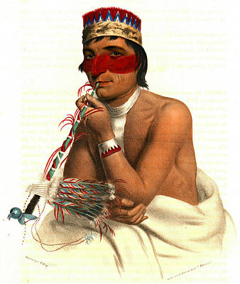 Poster featuring the photograph Chippeway Chief 1836 by Padre Art