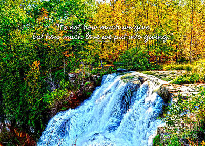 Poster featuring the photograph Chittenango Falls, Ny Mother Teresa  by Diane E Berry