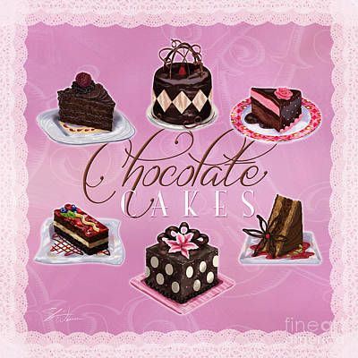 Chocolate Cakes Poster by Shari Warren