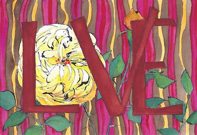 Chocolate Cherry Love Poster by Faith Teel