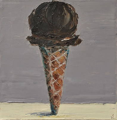 Poster featuring the painting Chocolate Cone by Lindsay Frost