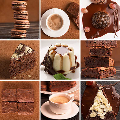 Chocolate Desserts And Sweets Poster by Vadim Goodwill