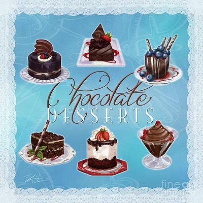 Chocolate Desserts Poster