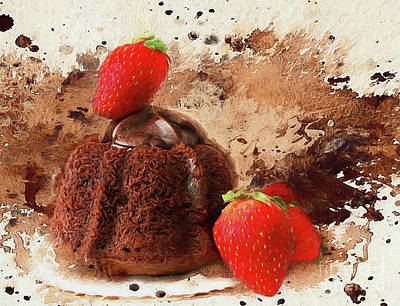 Poster featuring the photograph Chocolate Explosion by Darren Fisher