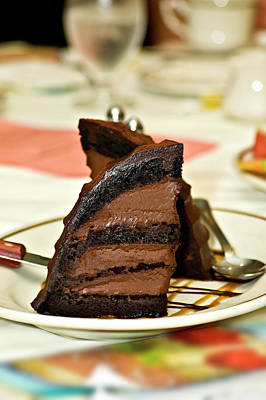 Chocolate Mousse Cake Poster by Carolyn Marshall