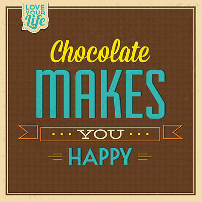 Chocolate Poster by Naxart Studio