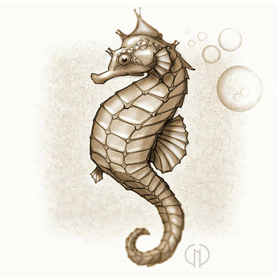 Chocolate Seahorse Poster