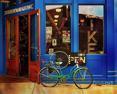 Poster featuring the photograph Chocolate Spokes Bicycle by Craig J Satterlee