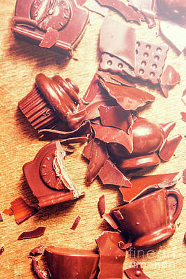 Chocolate Tableware Destruction Poster by Jorgo Photography - Wall Art Gallery