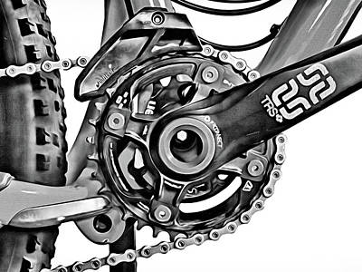 Poster featuring the digital art Choice Transport 1 Bw by Wendy J St Christopher