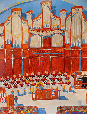 Choir And Organ Poster by Rodger Ellingson