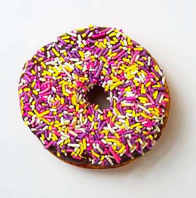 Cholocate Donut With Sprinkles Poster