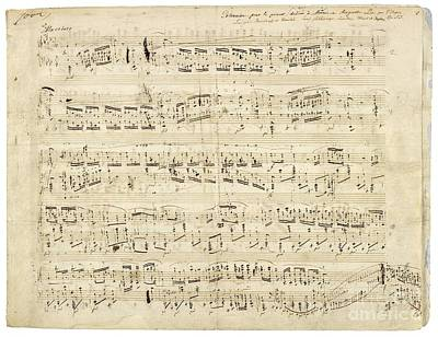 Chopin Music Notes Poster