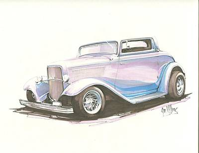 Chopped 32 Deuce Coupe Poster by Jim Williams