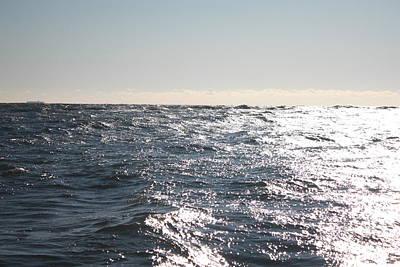 Choppy Ocean Fishing Waters Poster