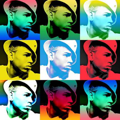 Chris Brown Warhol By Gbs Poster