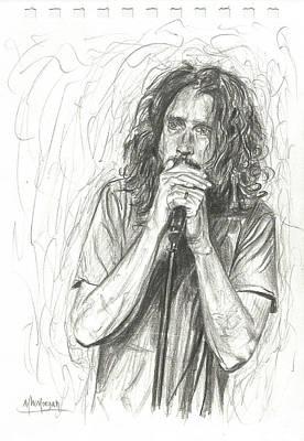Chris Cornell Poster by Michael Morgan