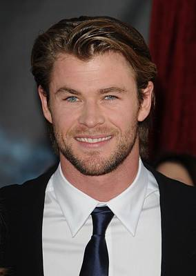 Chris Hemsworth At Arrivals For Thor Poster by Everett