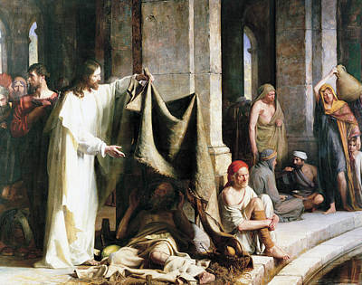Christ Christ And The Man At The Healing Wel Poster by Carl Heinrich Bloch
