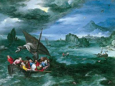 Christ In The Storm On The S Poster
