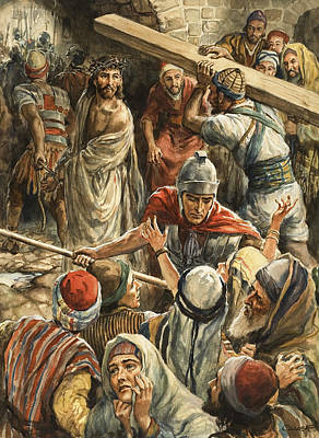 Christ On The Way To His Crucifixion Poster by Henry Coller