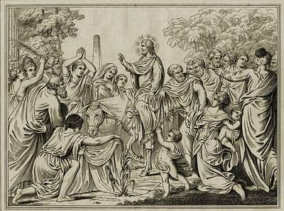 Christ S Entry Into Jerusalem.19th Poster