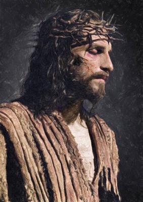 Christ Poster by Taylan Apukovska