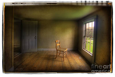 Poster featuring the photograph Christina's Room by Craig J Satterlee