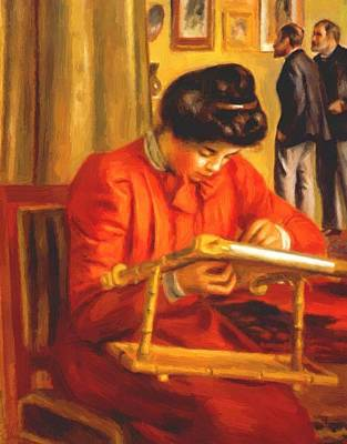 Christine Lerolle Embroidering 1897 Poster