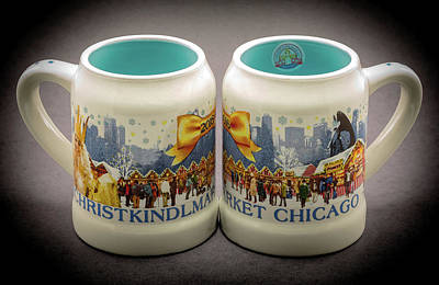 Christkindlmarket Chicago Poster by Greg Thiemeyer