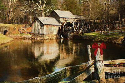 Poster featuring the photograph Christmas At The Mill by Darren Fisher