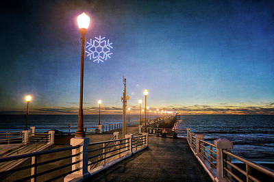 Christmas At The Pier Poster by Ann Patterson