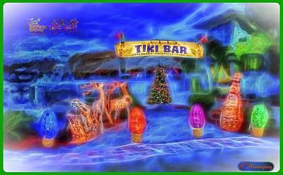 Christmas At The Tiki Poster by Richard Hemingway