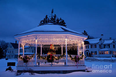 Christmas Bandstand Poster by Susan Cole Kelly